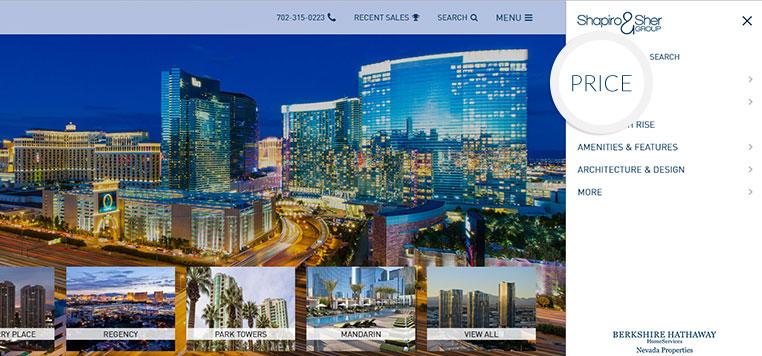 Strategically designed website navigation