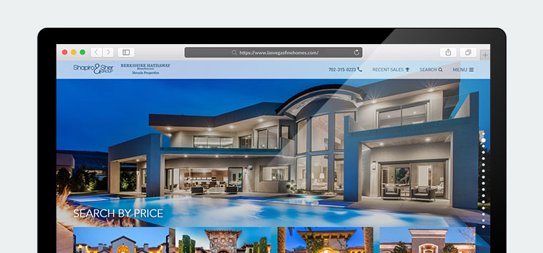 Effective layout for a luxury Real Estate website