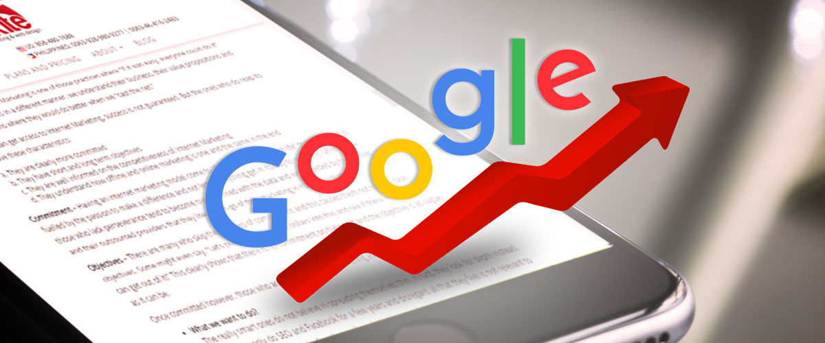 Effects of site content on search ranking