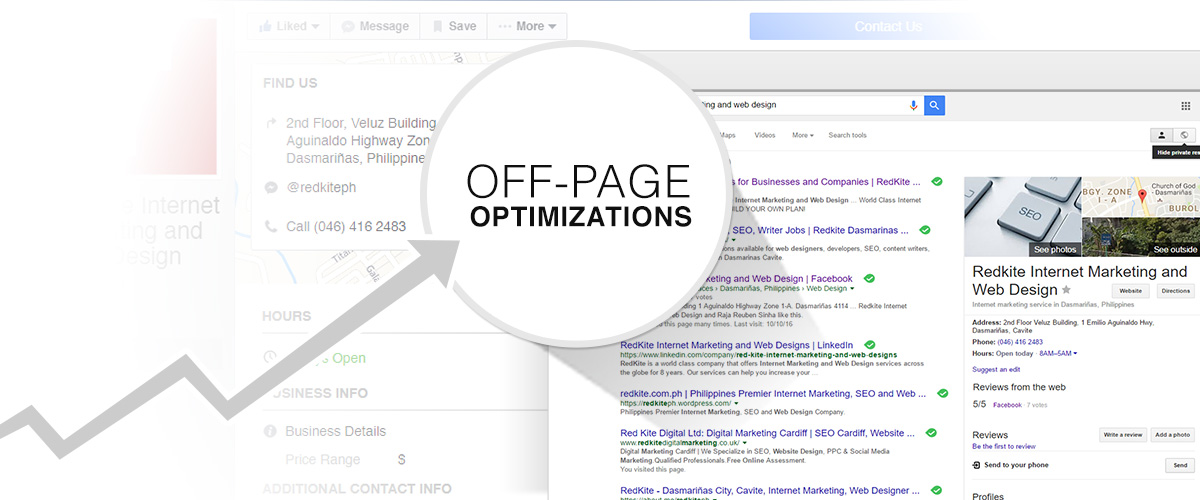 Optimize a website's off page elements for Local SEO