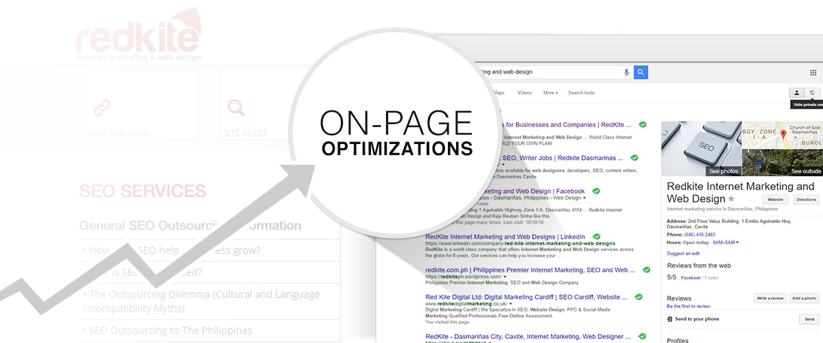 Optimize a website's on page elements for Local SEO
