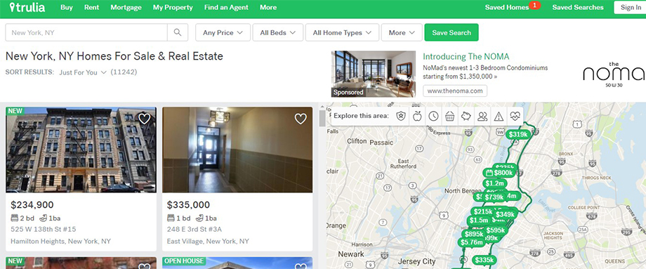 Analysis of Trulia's grid property page
