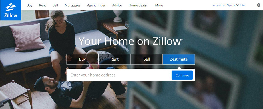Analysis of Zillow's website interface