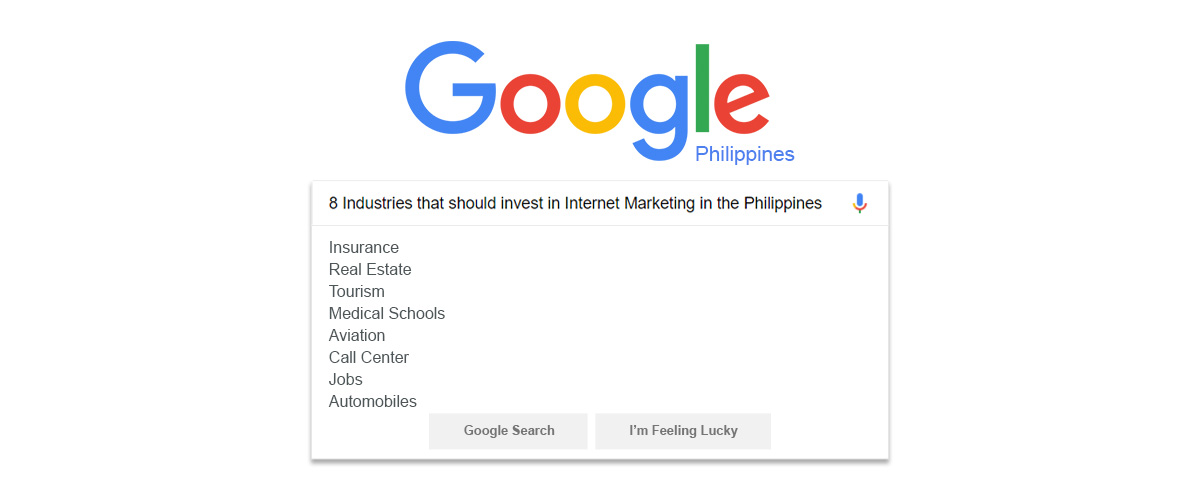 8 Industries That Should Invest In Search Marketing in the Philippines - Redkite Philippines