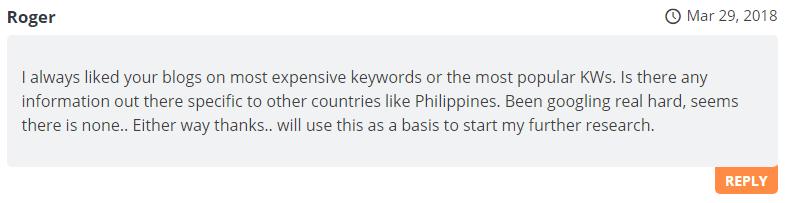 Blog Comment Roger - Redkite Philippines