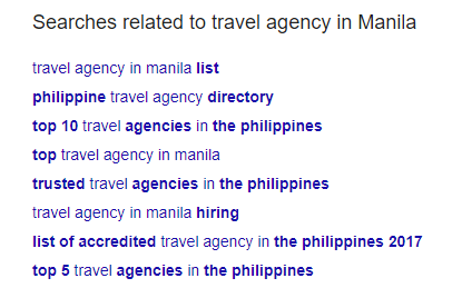 Related Searches Travel Agency - Redkite Digital Marketing Philippines