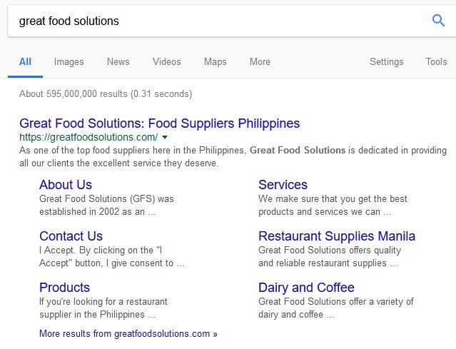 Google Search Result - Redkite Digital Marketing Philippines